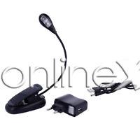Lampara Cuello Flexible 2 Led, Pinza Clip, para Lectura, Ebook a3270