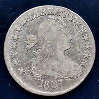 1807 Draped Bust Half Dollar 50c High Grade Rare Early Coin #9764