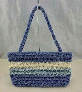 The Sak Blue Stripe Crochet Handbag