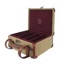 Tourbon Gun Ammo Carry Box Cartridges Case Bullets Holder Storage Canvas Leather