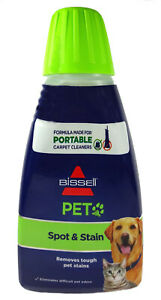 Bissell Pet Spot And Stain Carpet Cleaner, Portable Machine Formula (32 fl oz)
