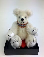 """Miniature Collectible Teddy Bear Fully Jointed + Case, COA """"Sparkle"""" WOMB NIB"""