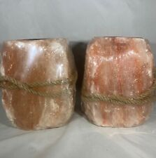 Himalayan Salt Lick on / with Rope. Pack of Two 8# Rocks. Over 16 pounds total!