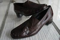 DORNDORF Damen Schuhe Pumps Vintage Leder braun Absatz 4cm bequem Gr.5 / 38 NEU