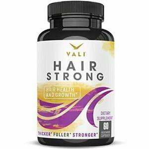 Hair Health Growth Vitamins with Biotin & Keratin - 60 Veggie Capsules....
