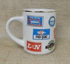 Railroad Coffee Mug Chessie System Mo-Pac  Washbash  Southern Pacific Lines B&O