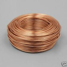 5m x 2mm Rose Gold Coloured Aluminium Wire for Jewellery Making and Crafting Use