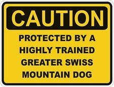 Dog Breed Greater Swiss Mountain Dog Caution Sticker Pet for Bumper Car Door