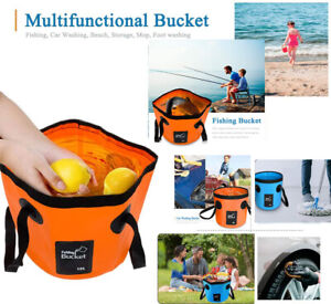 Collapsible Bucket, Foldable Water Container,Portable Lightweight Pail  12L/20L