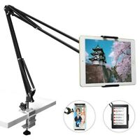 Tablet Stand Holder With Steel Arm Adjustable 360 Lazy Mount Bed Clamp Universal