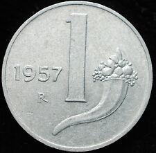 1957  Repubblica Italiana   1   lira