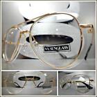 Men's or Women Classy Elegant Retro Style Clear Lens EYE GLASSES Rose Gold Frame