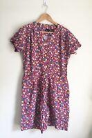 Vintage 90s Womens Liz Claiborne LizSport Romper Playsuit Floral Rayon S Pockets
