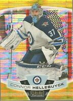 2019/20 O-Pee-Chee Platinum Connor Hellebuyck Seismic Gold Refractor #31/50 UD