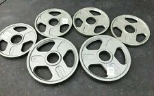 """Olympic Weight Plate Set. 40 lb total. WEIDER 2"""" GRIP PLATE- PROMPT SHIPPING"""