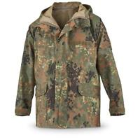 Original German army field Jacket GoreTex Flecktarn waterproof rain gear parka