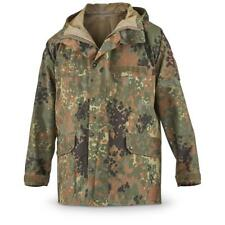 Original German army field Jacket GoreTex Flecktarn waterproof rain gear parka