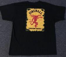 Fireball Whiskey Red Hot Shirt XL Beer Vtg Devil Cinnamon Alcohol Bourbon Dragon