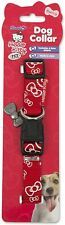 Hello Kitty Pet Adjustable Dog Collar Medium 2 x 46-56cm
