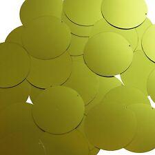 Round Sequin 40mm Green Matte Satin Metallic Couture Paillettes