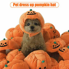 More details for pet halloween pumpkin hat dog puppy cat plush hat for cosplay costume party