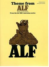 "THEME FROM ""ALF"" SHEET MUSIC-PIANO SOLO/GUITAR FRAMES-NBC TV SHOW-1989-RARE-NEW!"