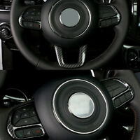 ABS Carbon Fiber Style Steering Wheel Panel Trim  for JEEP COMPASS 2017 2018