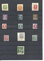 Bayern 1920, Einzelmarken zur Auswahl aus Michelnrn.: 178  - 195 o, gestempelt