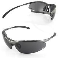 Bollé Contour Métal lunettes de conduite verres fumés noir soleil moto police