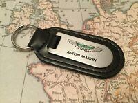 Aston Martin Llavero Grabado Y No Relleno en Piel