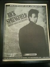 Rick Springfield The Beat Of The Live Drum Cinemax Concert Poster Ad Framed!