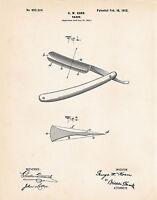1902 Bathroom Wall Art Decor Decorating Ideas Patent Print Poster Barber Shop