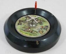 FINE ANTIQUE HORSE RACING GAME 1900 roulette wheel