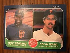 1986 Fleer Mike Woodward Colin Ward San Francisco Giants #645