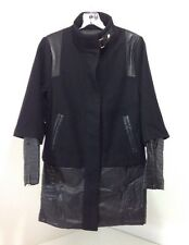 BEBE WOMEN'S CHIC MILITARY COAT BLACK US XS NWT $229