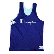 90s Champion Mens Basketball Tank Top Jersey Purple spell out Mesh men L vintage
