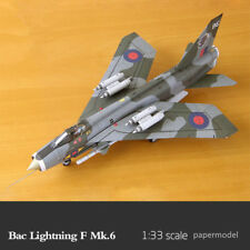 1:33 Scale Britan Bac Lightning F Mk.6 Fighter DIY Paper Model Kit