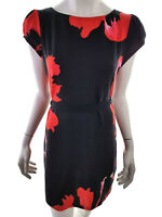 Billie & Blossom Women's Dress EU 42 UK 14 US 12 black flowers floral red