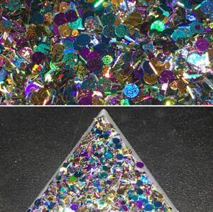 "Nail Art Fine Chunky Holographic Shimmer Glitter Mix - ""Autumn Breeze"" 4g Bag"