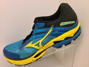 Mizuno Wave Inspire 9 Mens Size 11 Electric Blue Yellow Running Shoes Stability