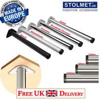 4x Black LEGS 820mm Adjustable Breakfast Bar/Support/Table/Kitchen Round ø60mm