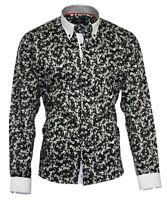 Herrenhemd Herren Hemd Satin Baumwolle Binder de Luxe 83001 schwarz