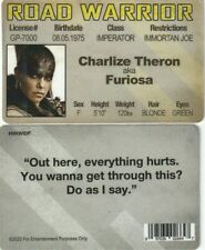Charlize Theron aka FURIOSA Mad Max Road Warrior fake I.D. card Drivers License