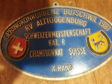 Vintage Rustic Swiss Plaque Farmhouse  Shabby Chic Dog