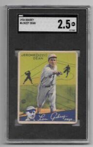 1934 Goudey Dizzy Dean #6 SGC 2.5 Cardinals
