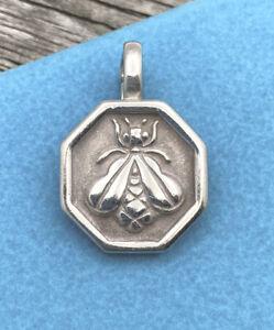 SLANE & SLANE Bee Enhancer Pendant w/ Hinged Bail Sterling Silver 925 - Large