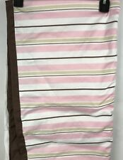 Skip Hop Bedding Crib Skirt Pink and Brown Stripes