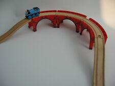 RAISED CURVED TRACK  Wooden Train Track Set ( Brio Thomas )
