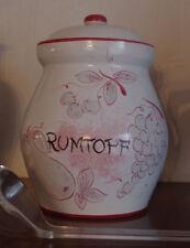 Rumtopf Keramik Majolika - Topf mit Deckel - Schramberg Wien ? ca 4-5 Liter