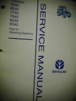 1996 New Holland 5640 6640 7740 7840 8240 8340 Tractors Steering Service Manual